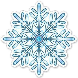 Снежинка бел/голуб 9шт