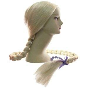 Карнавальный парик Коса белая длинная (снегурочка)