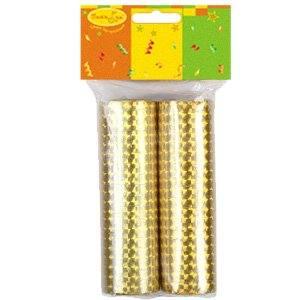 Серпантин фольгированный 2ст/36колец Золотой