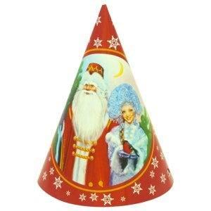 Колпачки Дед Мороз и Снегурочка, 6шт