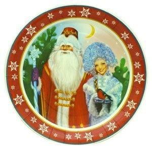 Тарелки Дед Мороз и Снегурочка
