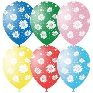 Воздушные шарики Ромашки, 5ст, 50шт