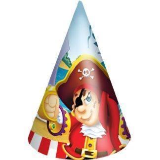 Праздничные колпачки Веселый Пират, 6шт