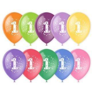 Набор шаров Цифра, 10 штук, в асс (0-10)