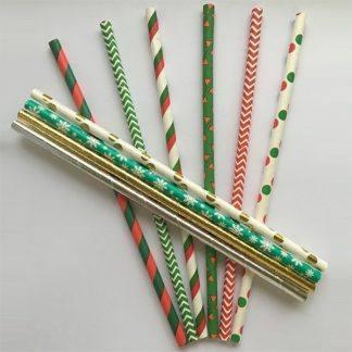 Трубочки бумажные Праздничные асс