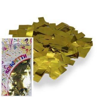 Конфетти фольгированное Прямоугольники золото 300гр