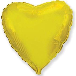 Шарик из фольги сердце Золото, 46см