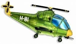 Фольгированный фигурный шар, 97см, вертолет