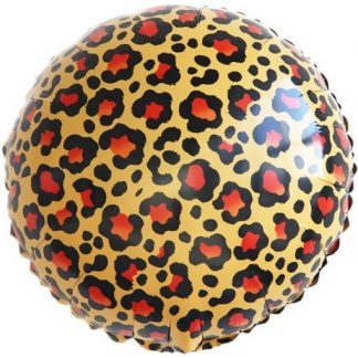 Шарик из фольги круг, Окрас леопарда, 46см