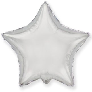 Шарик из фольги звезда Серебро, 46см