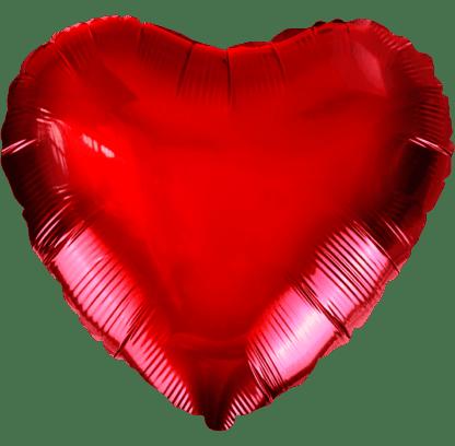 Шарик из фольги сердце красное, 46см