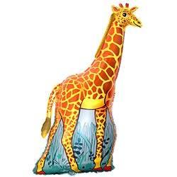 Фольгированный фигурный шар, 119см, Жираф