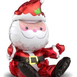 Фигура, фольга, Сидячий Дед Мороз, 51 см