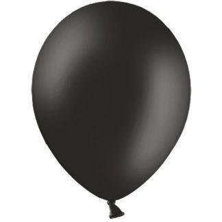 Воздушный шарик 30 см Черный 10 штук