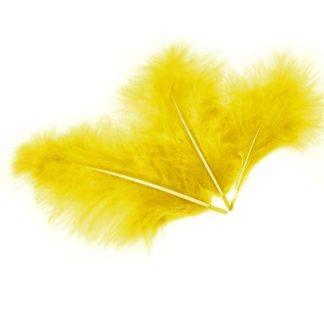 Перья желтые 30шт
