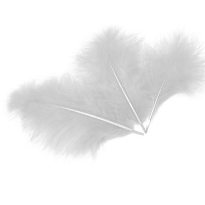 Перья белые 30шт