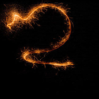 Бенгальская свеча в форме цифры 2