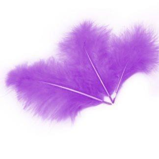 Перья фиолетовые 30шт