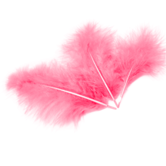 Перья Розовые 30шт