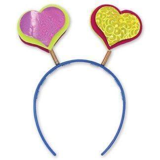 Ободок-антенка фигурная сердце
