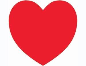 Баннер Сердце красное 27см
