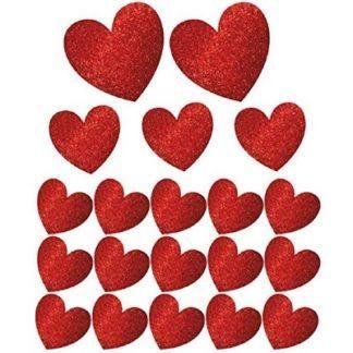 Баннер-комплект Сердце блеск 20шт