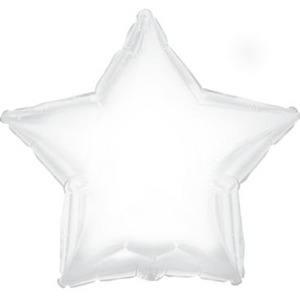 Шарик из фольги звезда Белая, 46см