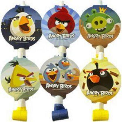 """Язычок - гудок с карточкой  """"Angry Birds"""" 6шт"""
