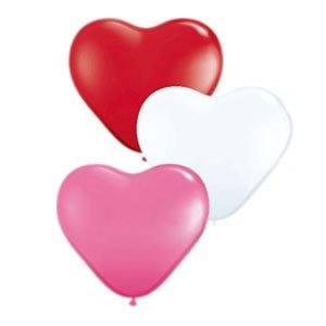 Набор шаров сердечки, 25см, 3-х цветное
