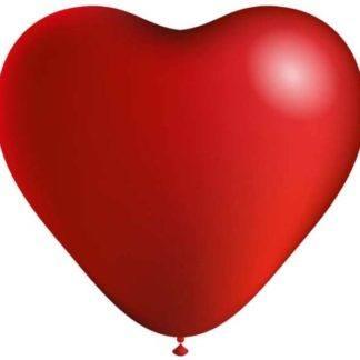 Набор шаров Сердце красное 25 см, 10 шт.