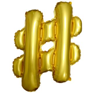 Фольгированный шар Хештег, 51 см