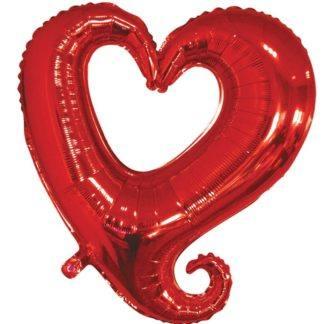Фольгированный фигурный шар Цепь сердец, 46см