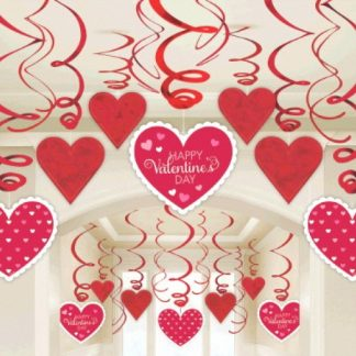 Спираль Валентинов день 46-60см 30шт