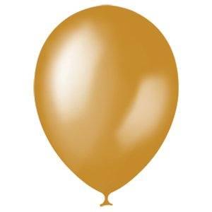 Воздушный шарик 30 см, Золото 10 штук