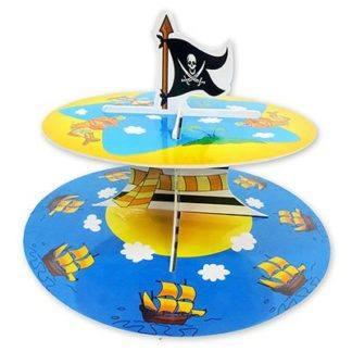 Стойка д/кексов 2 яруса Маленький Пират