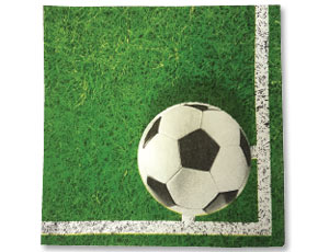 Салфетка Футбол зеленая 33см 20шт