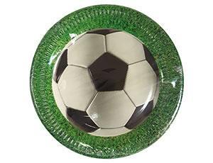 "Тарелка ""Футбол"" зеленая 23см 8шт"