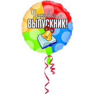 Шарик из фольги, Круг, Выпускник, 45см