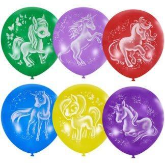 Набор шаров Волшебные лошадки, 30см, 10шт