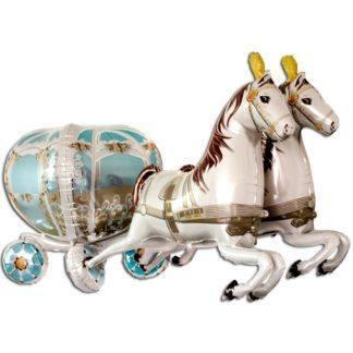 Фольгированный шар, Свадебная карета 4D, 191см