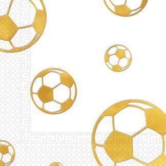 Салфетки Футбол золотой, 15 штук