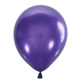 Воздушный шарик 30 см, пурпурный мет. 10штук