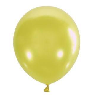 Воздушный шарик 30 см, жёлтый мет. 10штук