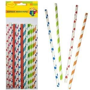 Трубочки бумажные ассорти 20шт