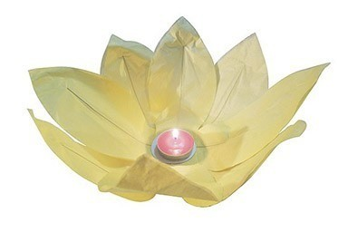 Водный фонарик Лотос жёлтый