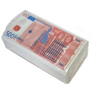 Салфетки ''Пачка денег 500 евро''