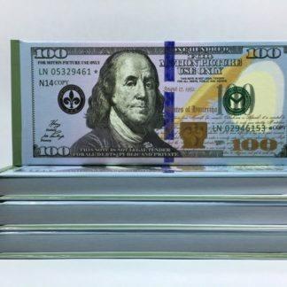 Отрывной блокнот-визитка 100$