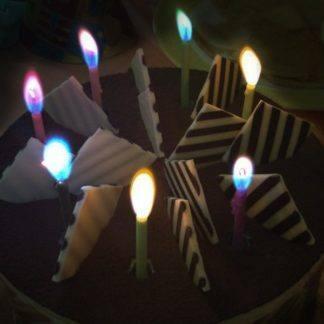 Свечи С цветным пламенем с держателями 6см, 10штук