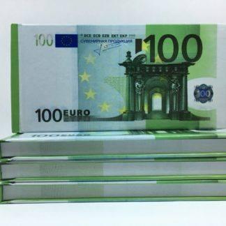 Отрывной блокнот-визитка 100€