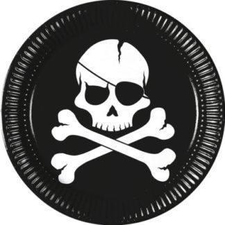 Тарелки Пираты черные